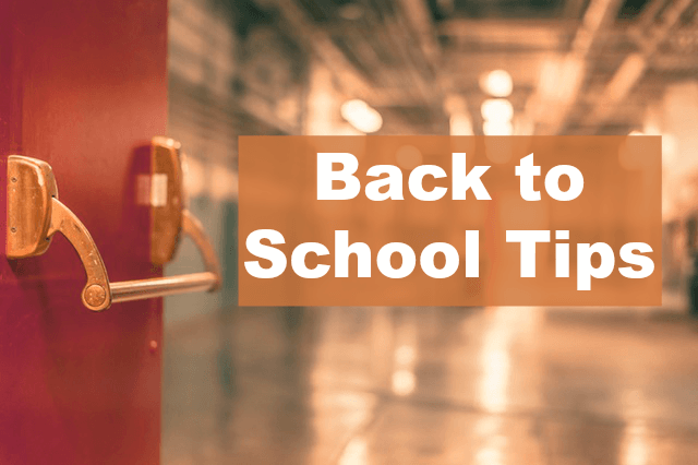 back to school tips first day of school