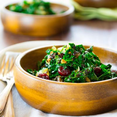 healthy meal delivery Sauteed Kale with Dried Cranberries