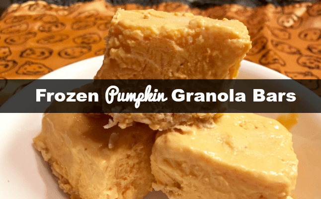 pumpkin granola bars for a healthy halloween national pumpkin day