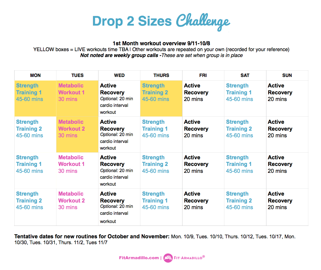 Drop 2 Sizes Fitness Challenge Online Fitness Program