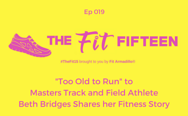 Masters Track and Field Athlete beth bridges ep19