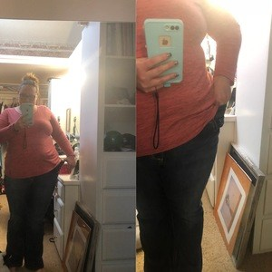 drop 2 sizes fitness challenge after pictures transformation