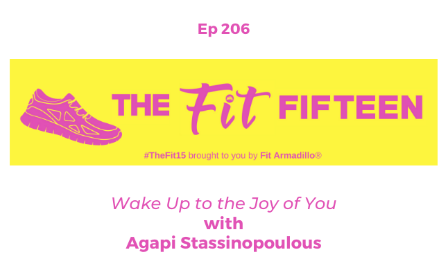 podcast episode 206 with bestselling author wake up to the joy of you Agapi Stassinopoulous